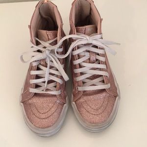 Vans glitter pink size 13